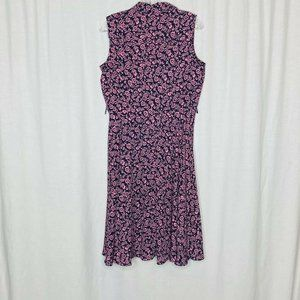 Nanette Lepore Dresses - Nanette Lepore Black Pink Floral Career Dress 8